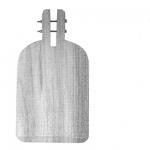Art.470 Pala in legno senza manico